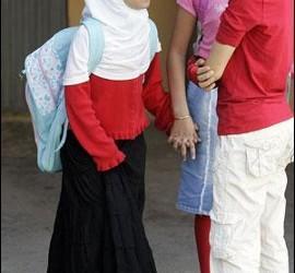 Alumna musulmana en Girona
