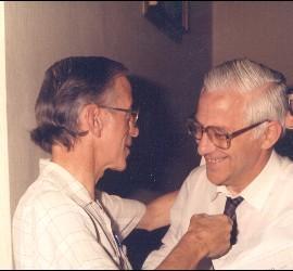 Casaldáliga y el Padre Ángel en una foto de los años 90