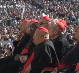 Cardenales en la despedida papal