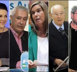 Rajoy, Cospedal, Arenas, Mato, Romay Beccaría, Páez y Trillo.