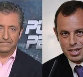 Josep Pedrerol y Sandro Rosell.
