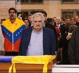 Cristina Fernandez de Kirchner, Nicolás Maduro, Jose Mujica y Evo Morales.