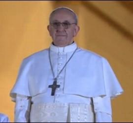 Bergoglio, nuevo Papa, con el nombre de Francisco I.