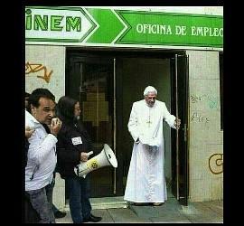 El Papa en la oficina de empleo