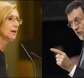 Rosa Díez y Mariano Rajoy.