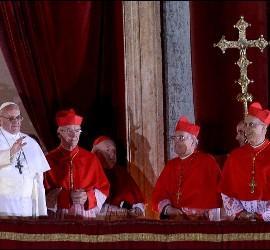 El Papa Francisco I, en el balcón del Vaticano