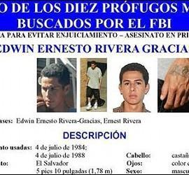 Ficha del FBI de Edwin Ernesto Rivera Gracias.