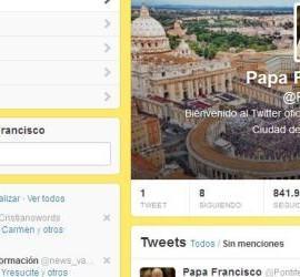 La cuenta de Twitter del Papa Francisco