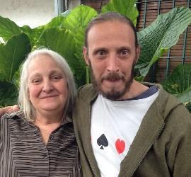 María Elena Bergoglio y su hijo Jorge
