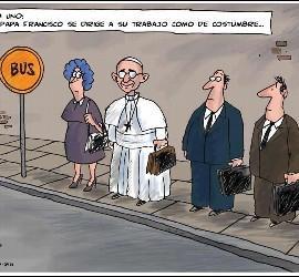 Viñeta sobre el Papa Francisco