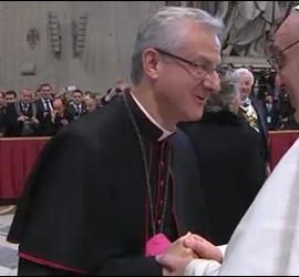 Monseñor Vives, copríncipe de Andorra, con Francisco