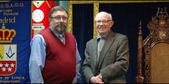 Masonería: Felipe Herránz, gran maestre de la Logia de Madrid, y Antonio Aradillas