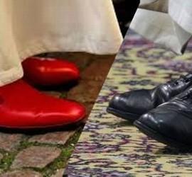Los zapatos rojos de Benedicto, y los negros de Francisco