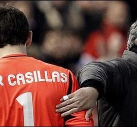 Casillas y Mourinho.