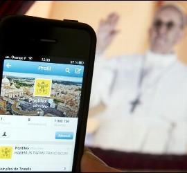 El perfil del Papa Francisco en Twitter