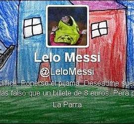 El Twitter fake de Leo Messi.