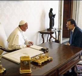 El Papa Francisco con Mariano Rajoy