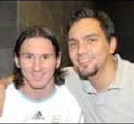 Messi con Huguito Chávez.
