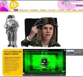 Ataque de Anonymous a la web de 13TV.