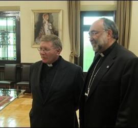 Menéndez, junto a Jesús Sanz