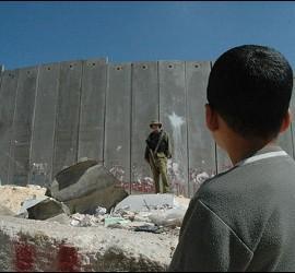 El muro israelí en Palestina