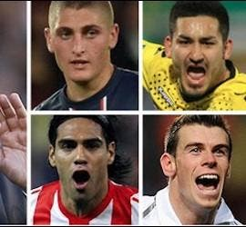 Ancelotti y Verratti, Gundogan, Kondgbia, Falcao, Bale y Agüero.