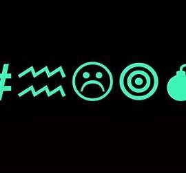 Símbolos en Internet, violencia y emoticons.