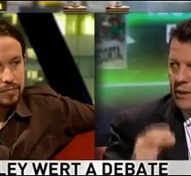 Pablo Iglesias y Alfonso Rojo.