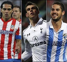 Neymar, Falcao, Bale, Isco y Agüero.