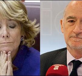 Esperanza Aguirre y Alberto Recarte.