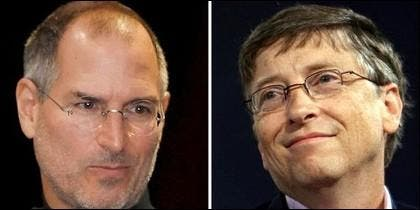 Steve Jobs y Bill Gates.