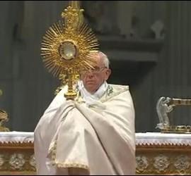 Adoración del Papa