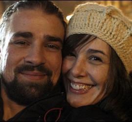Raquel Sánchez Silva y Mario Biondoen una foto colgada en la cuenta personal en Twitter de la presentadora.