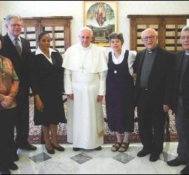 Francisco, con los responsables del CLAR