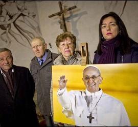 Los Bergoglio visitan al Papa
