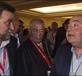 Francisco Fernández, actual secretario general de UGT-A junto a Manuel Pastrana, su antecesor.