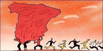 España, economia, paro y crisis.