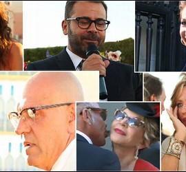 Los colaboradores de 'Sálvame' en la boda de Carlota Corredera, directora del 'Deluxe'.