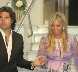 Toño Sánchís y Belén Esteban en la boda de Carlota Corredera, directora del 'Deluxe'.