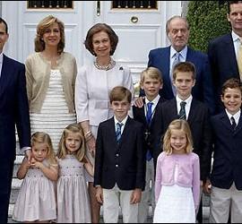 La familia Real española.