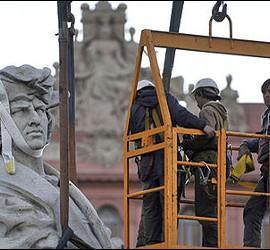 La estatua de Cristobal Colón en Buenos Aires.