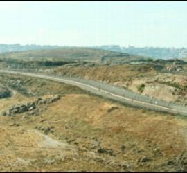 Vista del muro de separación Israel-Palestina en Belén