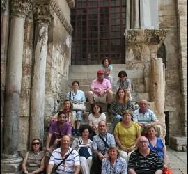 Grupo de peregrinos de Ain Karen y Escuelas Católicas
