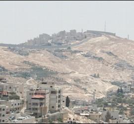 El Muro de Belén, desde Jerusalén