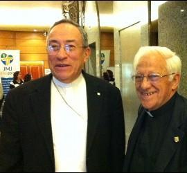 Cardenal Maradiaga y el Padre Ángel