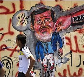 Pintadas contra el islamista Morsi en Egipto.