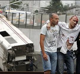 Uno de los heridos tras descarrilar el un Alvia que cubría la ruta entre Madrid y Ferrol.