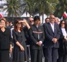 Dilma, Cristina y Evo en la misa de la JMJ