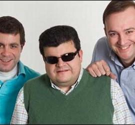 Fernando Echeverría, Óscar Blanco y David Miner, del Grupo Risa.