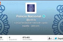 Twitter de la Policía Nacional, el cuerpo de seguridad más seguido del mundo.